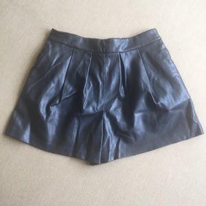 Zara Basics Faux Leather Shorts