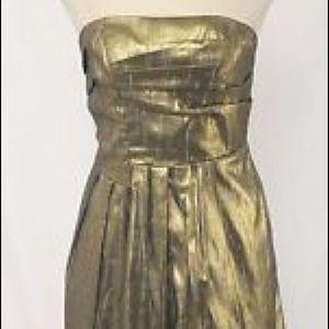 BCBGeneration, size 8, gold cocktail dress