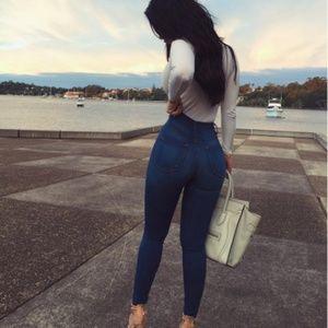Fashion Nova Classic High Waist Skinny jeans (med)