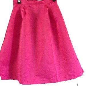 Dresses & Skirts - Pleated pink circle skirt