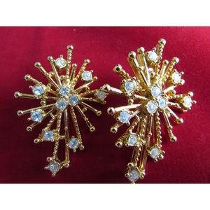 StarBurst vintage Avon designer earrings