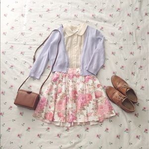 lavender cotton cardigan
