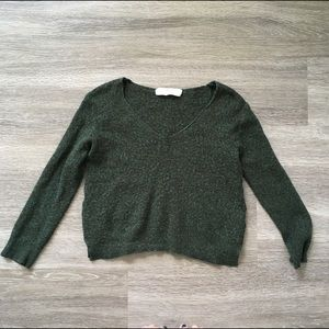 Zara // Forest Green Cropped Sweater