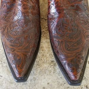 Other - Men's Tooled Leather Appaloosa Shoe Boots Size 10