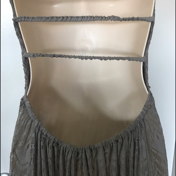 100 off free people dresses amp skirts amazing sheer gray