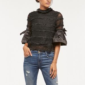 Tops - 🎉HP🎉 Mock Neck Lace Blouse