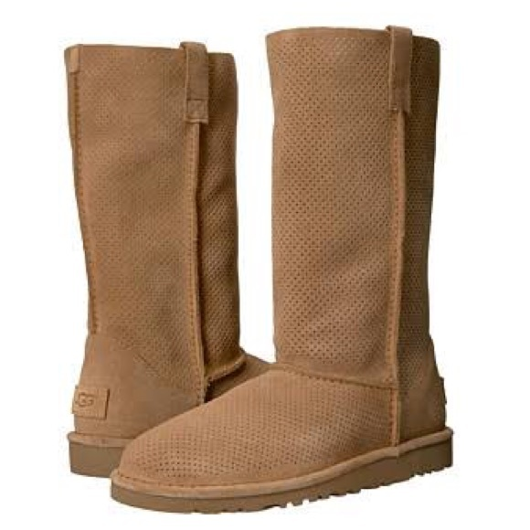 95bbb672ffe Ugg Classic Unlined Tall Perforated Boots NWT