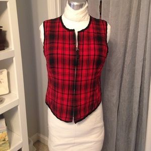 🆕 Listing! Coldwater Creek Red Plaid Vest