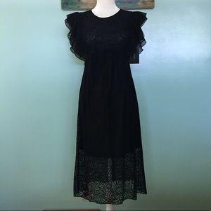 NWT Zara Basic Collection Lace Dress - XS