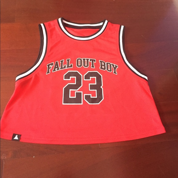 5b4d4eadbc36 Hot Topic Tops - Fall Out Boy basketball jersey
