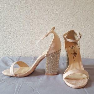 Blush Glitter Heels