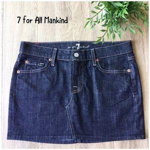 7 for All Mankind Roxy denim mini skirt size 28
