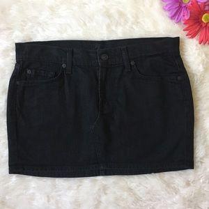 7 for All Mankind Black Denim Mini Skirt Roxanne