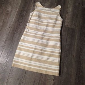 Banana republic tan and ivory striped dress 12