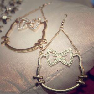 Jewelry - Hello Kitty inspired fashion earrings