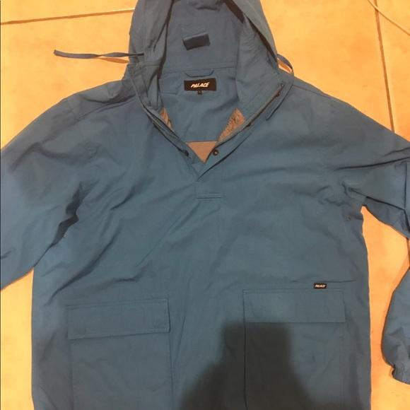 Palace Jackets Amp Coats Blue Pullover Jacket Poshmark
