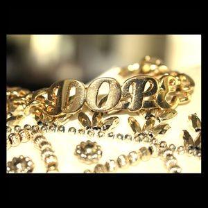 """Jewelry - """"Dope"""" gold-tone bracelet *Brand New*"""