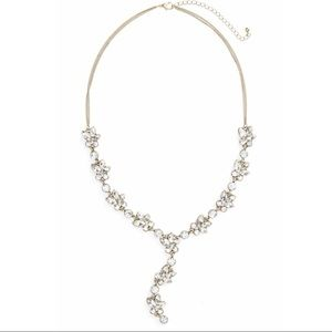 Jewelry - Floral Crystal Lariot Necklace