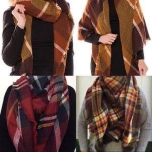 NWOT Zara blanket scarf/wrap in fall colors