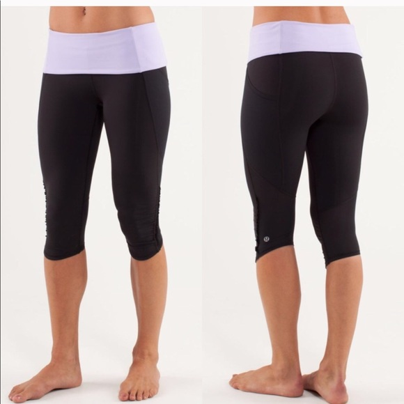 1a478bba3 lululemon athletica Pants - Lululemon Nothing To Hide crop capri tights  Ruffle