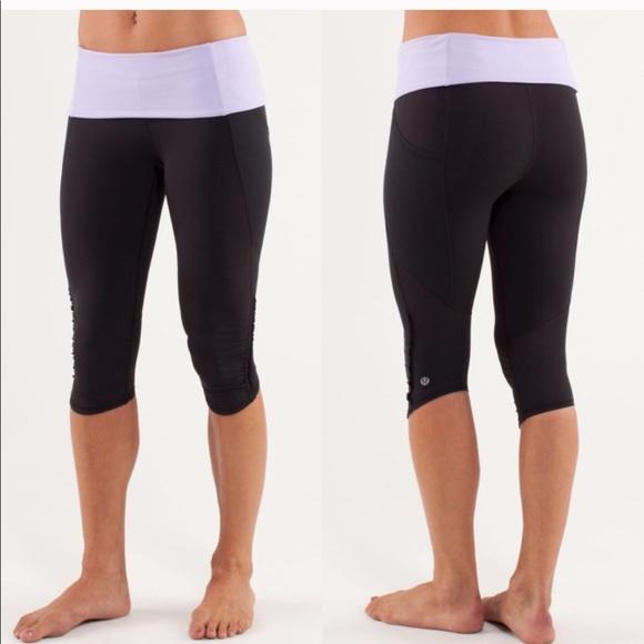 6ca824bbd788c4 lululemon athletica Pants - Lululemon Nothing To Hide crop capri tights  Ruffle
