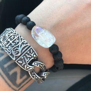 Genuine angel aura crystal oil diffuser bracelet
