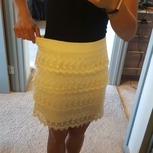 6b15096d6 American Eagle Outfitters Skirts - AE tiered lace mini high waisted skirt