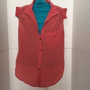 Red Polkadot slvls blouse