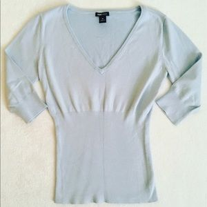 H&M Mama Maternity Baby Blue Sweater Top