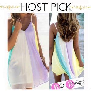 Dresses & Skirts - ✨HP ☀️Easy Breezy Pastel 🌈 Sherbert Mini dress