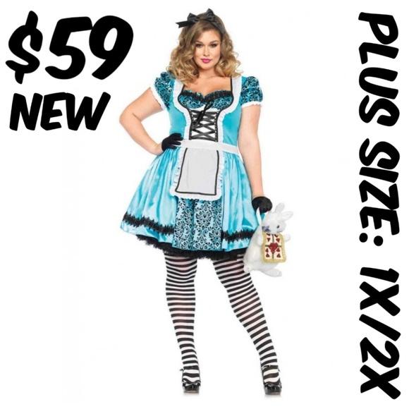 67a941876ac Dapper Day Alice Costume Dress Pin Up Plus Size NWT