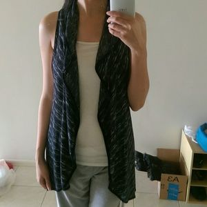 Tops - Marled Sweater Scarf Style Vest