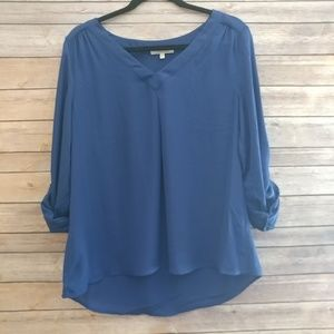 Tops - Stitchfix 41hawthorn royal blue tab sleeve blouse