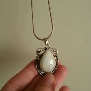 Jewelry - Genuine sterling silver and moonstone necklace