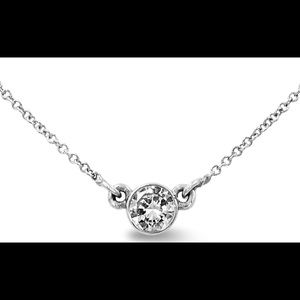 """Jewelry - .30Ct Diamond Solitaire on a 16"""" White Gold Chain"""