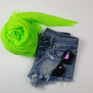 Abercrombie & Fitch Lime Green Scarf