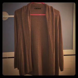 ZARA Knit Cardigan, Long Sleeve, Taupe
