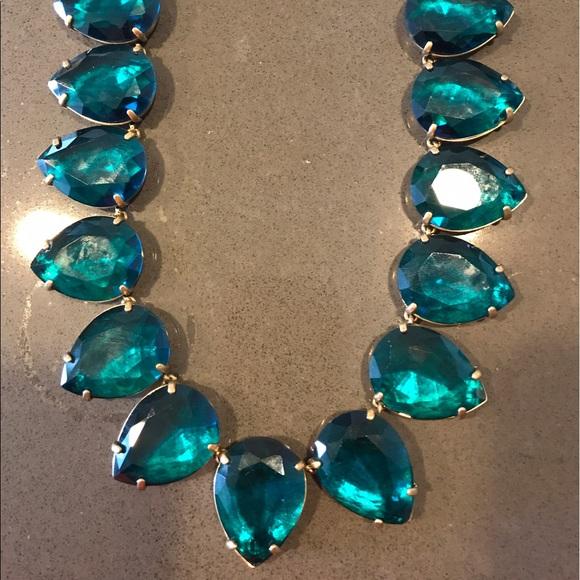 Jcrew crystal teardrop statement necklace