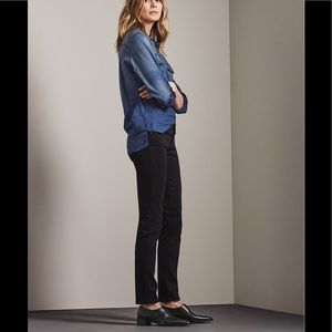 AG Stilt Sateen jeans in Black