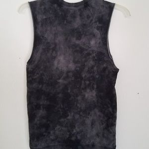 H&M Shirts - ⬛NWT HM Divided Grey Tiedye Sleeveless Top XS Goth