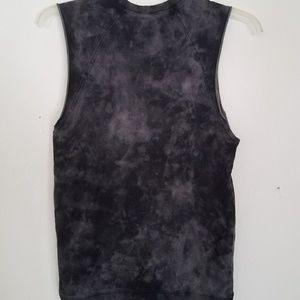 H&M Shirts - ⬛NWT HM Divided Grey Tiedye Sleeveless Top XS Goth