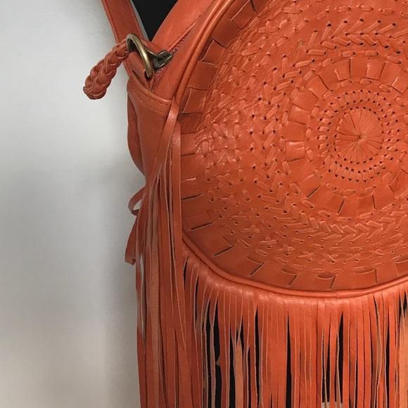 Vintage Bags - 100% Leather Fringe Back Pack