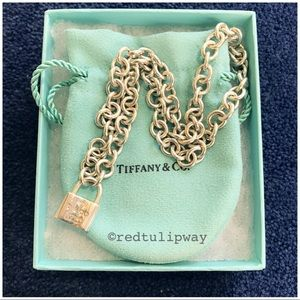 🌹SOLD🌹Auth. Tiffany & Co. 1837 Lock Necklace