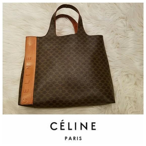 Celine Handbags - Incredible Vintage CELINE Monogram Tote Bag 90d4a96695eea