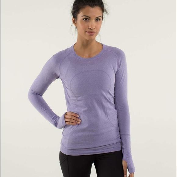 cbdbe33094d4a7 lululemon athletica Tops | Lululemon 4 Purple Swiftly Long Sleeve ...