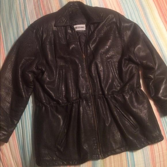 lowest price be2d9 25757 Missani Le Collezioni soft leather coat, Lg