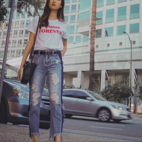 Hidden Jeans Denim - Hidden Jeans Two Toned Distressed Jeans