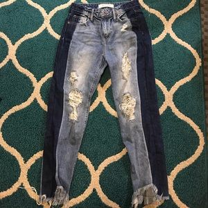 Hidden Jeans Two Toned Distressed Jeans