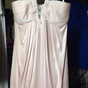BCBG MAX AZRIA halter style champagne dress NWT