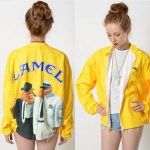 Jackets & Blazers - Vintage Camel Windbreaker Jacket
